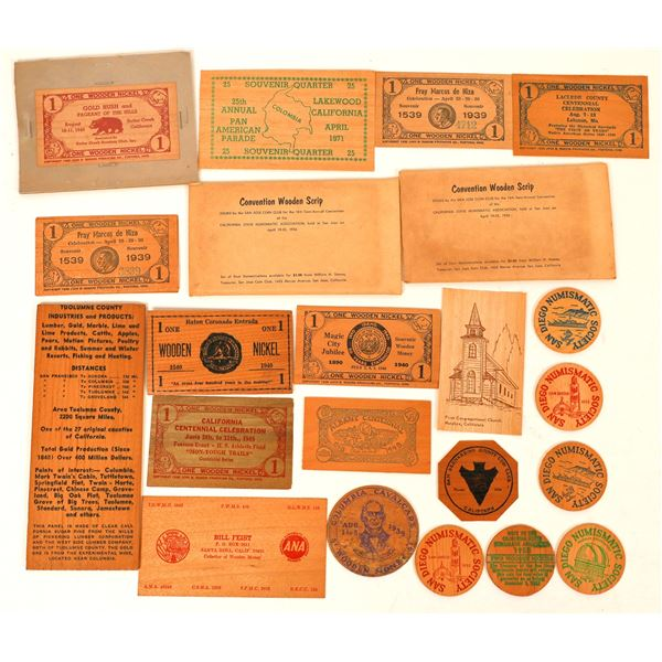 Wooden Money Collection: Western States  [136447]