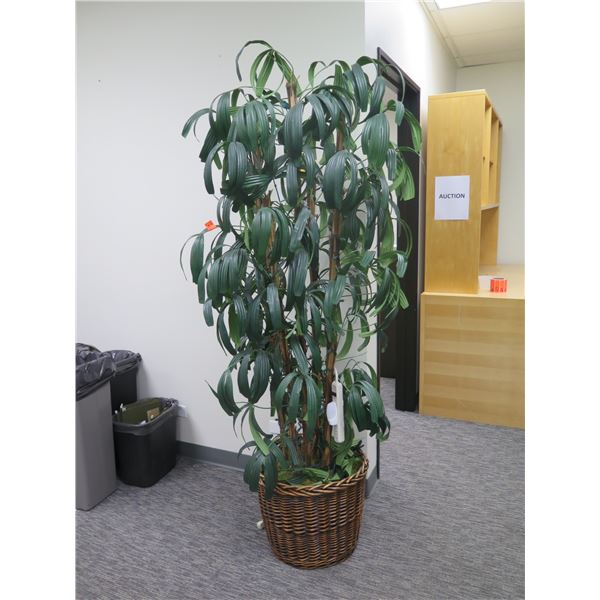 """Tall Artificial Plant in Wicker Basket 75""""H"""