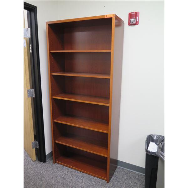 "Wooden 6 Tier Shelf 35""x79""H"