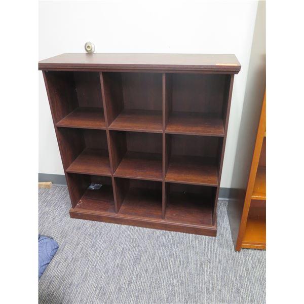 "Wooden 9 Compartment Shelf 38""x39""H"