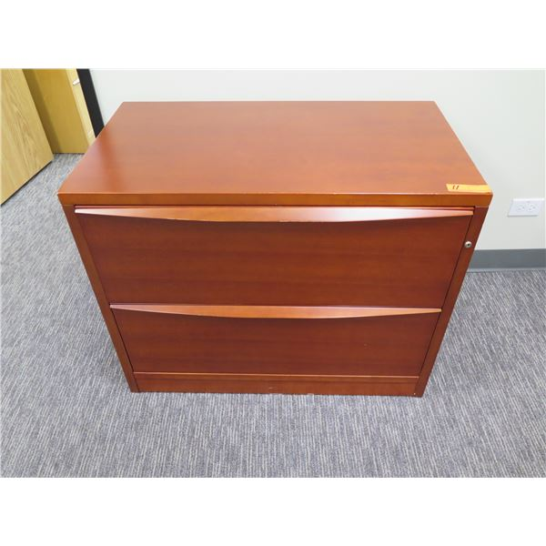 Wooden 2 Drawer Lateral File Cabinet 35 x20 x28 H