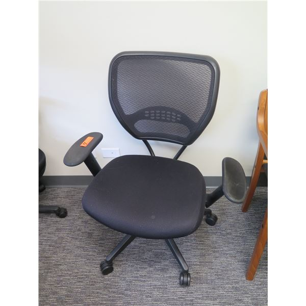 Rolling Adjustable Office Arm Chair w/ Mesh Back