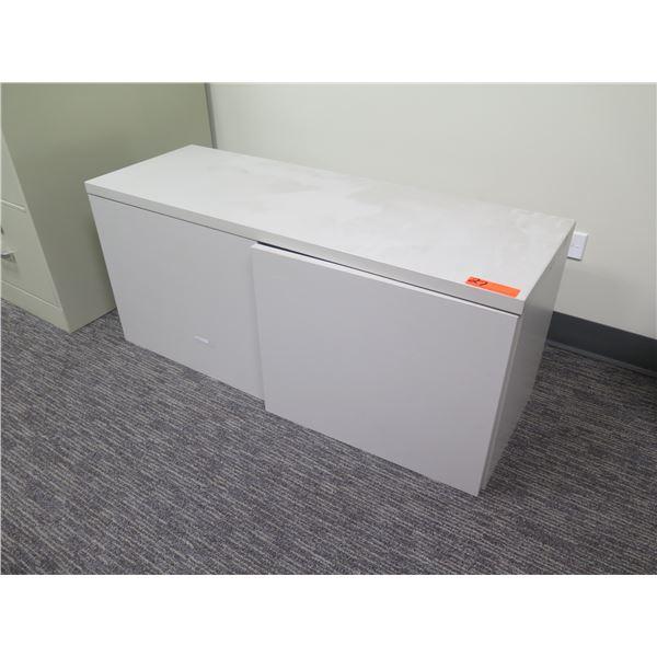 "White 2 Door Cabinet 30""x15""x18""H"