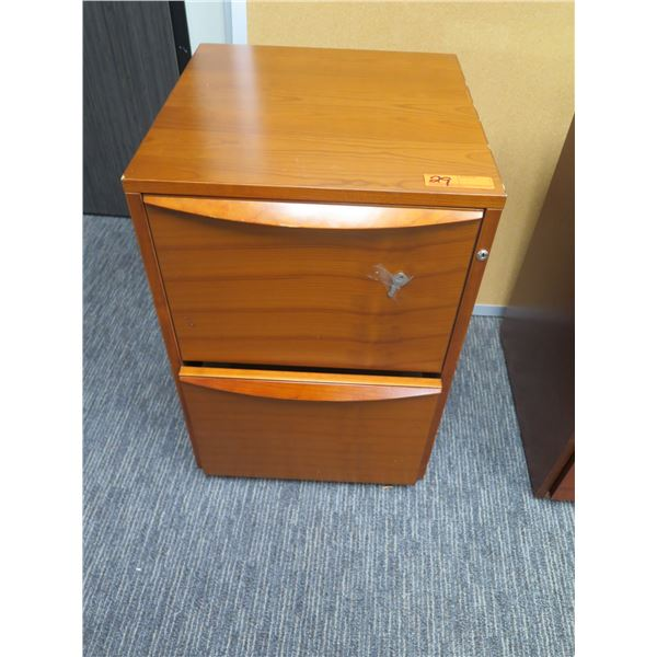 Wooden 2 Drawer File Cabinet 20 x18 x28 H