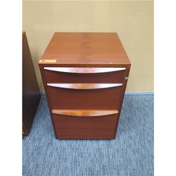 """Wooden 3 Drawer File Cabinet 19""""x18""""x27""""H"""