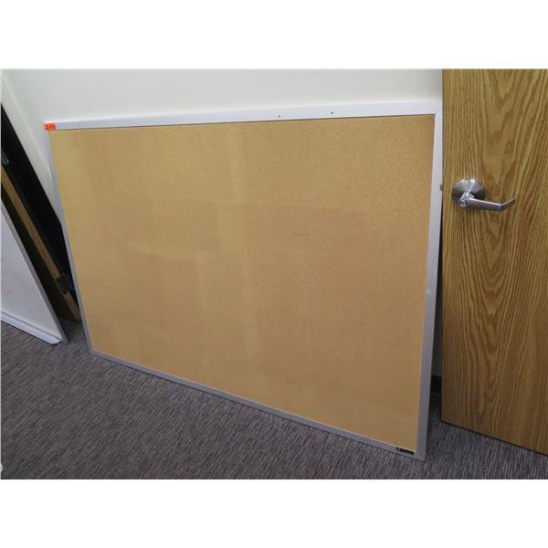 "Cork Board in Metal Frame 72""x48"""
