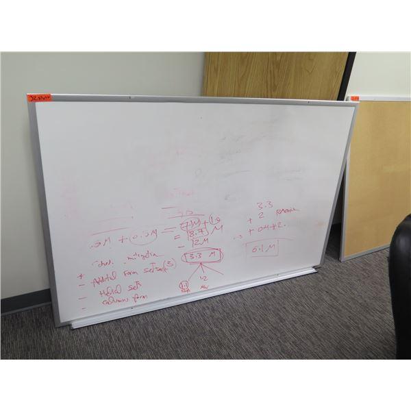 "White Board in Metal Frame 72""x46"""