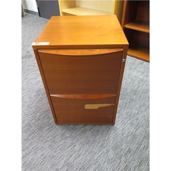 Wooden 2 Drawer File Cabinet 19 x18 x27 H
