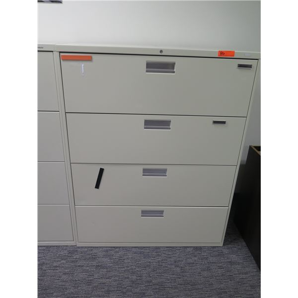 """HON Metal 4 Drawer Lateral File Cabinet 42""""x19""""x53""""H"""