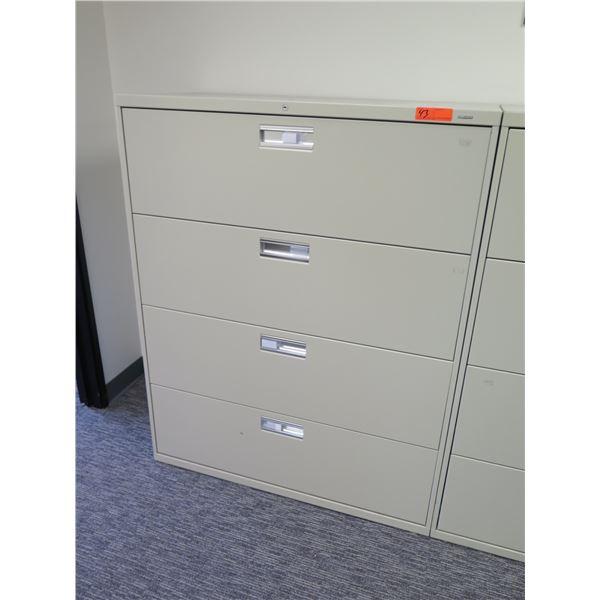 HON Metal 4 Drawer Lateral File Cabinet