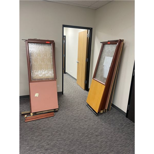 """Qty 10 Partition Panels (5 have glass and 5 are solid), Approx. 24.5"""" X 69.5"""""""