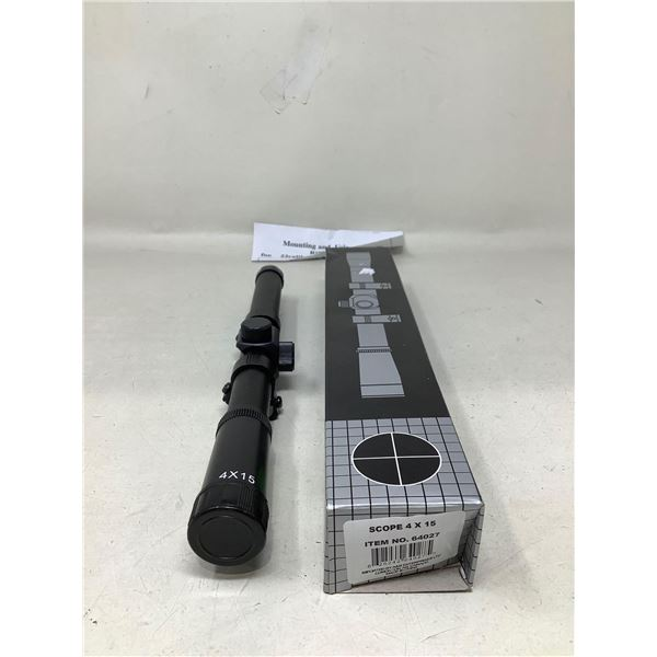 NEW 4 X 15 Rifle Scope