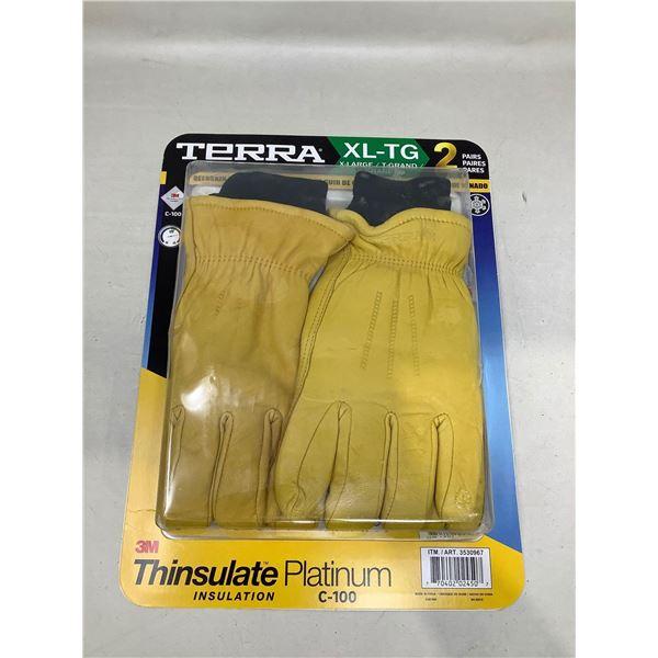 Terra Work Gloves 2 Pairs Size XL