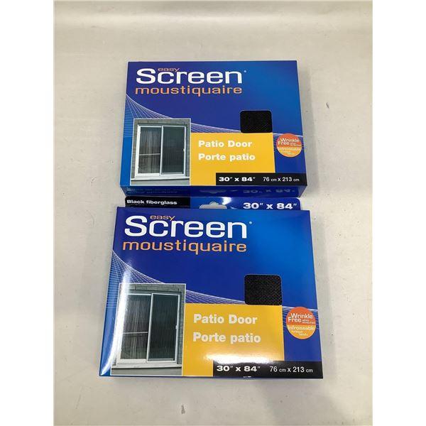 """Easy Screen Patio Door (30"""" X 84"""") Lot Of 2"""