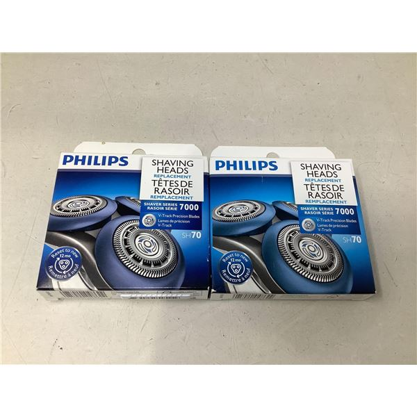 Philips Shaving Head Replacements Lot Of 2