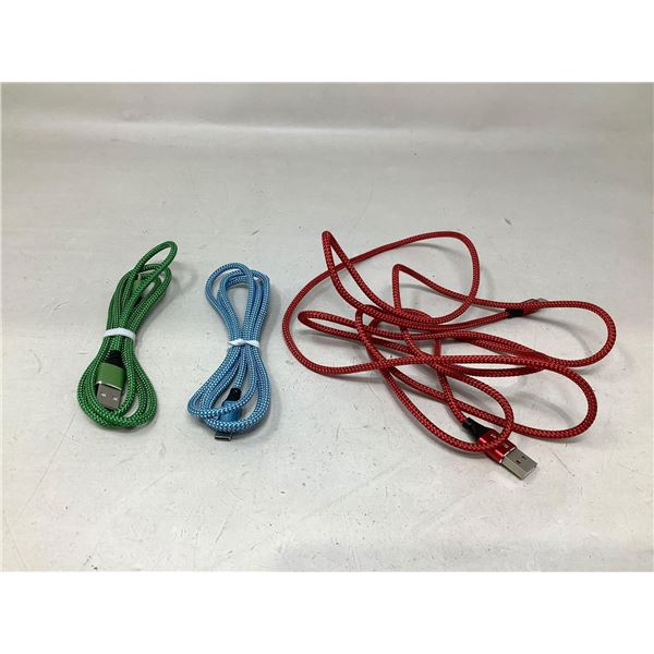 Lot Of 3 Phone Charging Cables