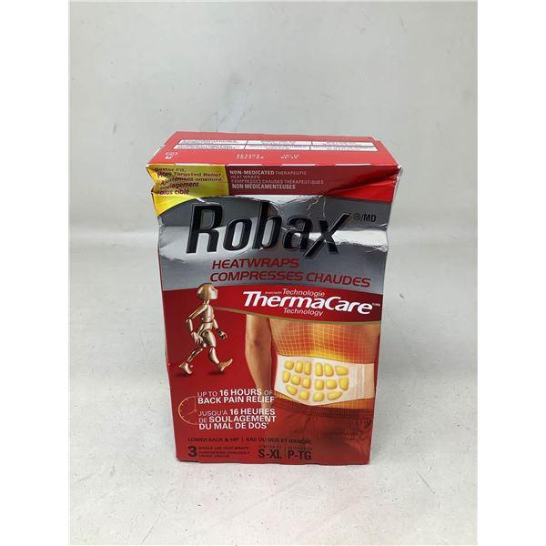 Robax Heatwraps 3 Single Use Heat Wraps