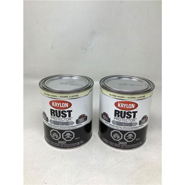 Krylon Rust Protector Gloss Ivory (2 X 946ML)