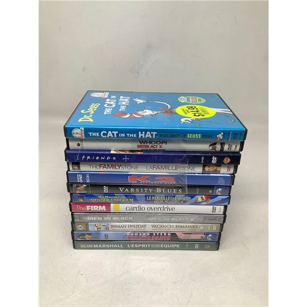 Lot Of 12 Assorted DVDs