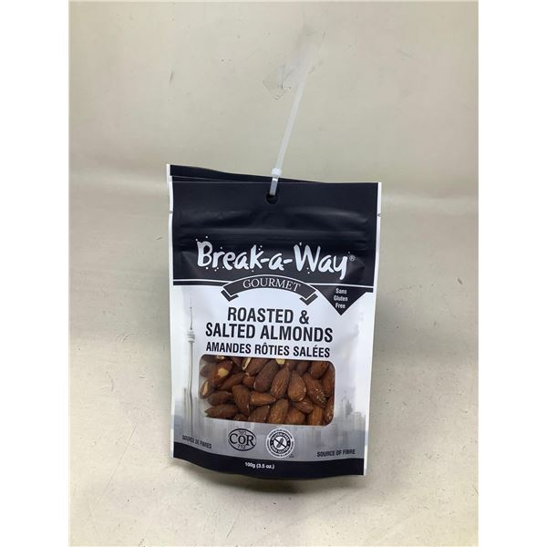 Break-A-Way Roasted & Salted Almonds (6 X 100G)