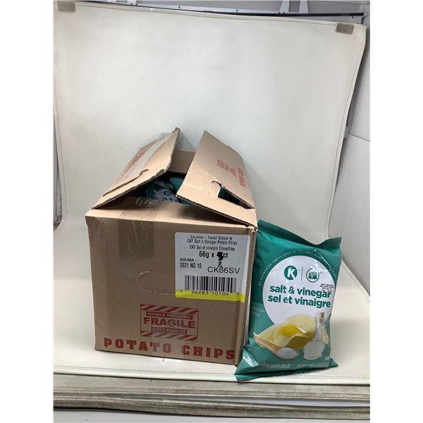 Circle K Salt & Vinegar Chips (8 X 66G)