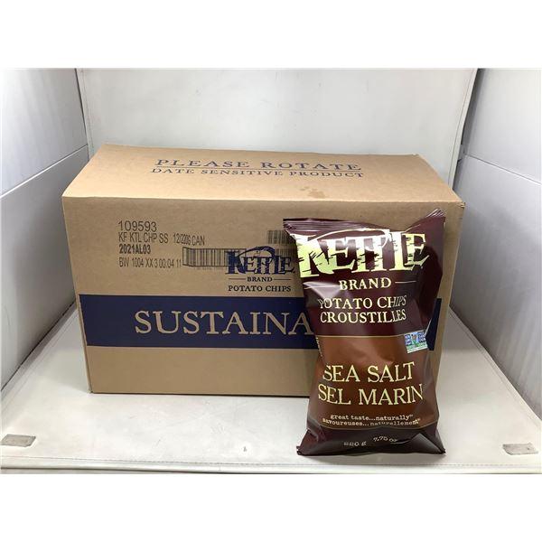 Kettle Brand Potato Chips Sea Salt (12 X 220G)