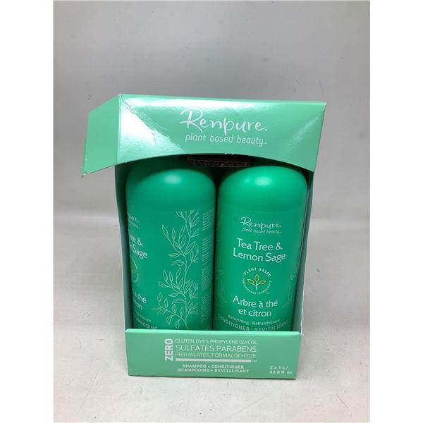 Renpure Plant Based Beauty Shampoo & Conditioner (2 X 1L)