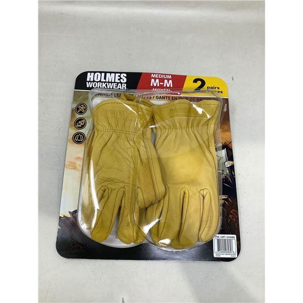 Holmes WorkwearMedium Work Gloves 2 Pair