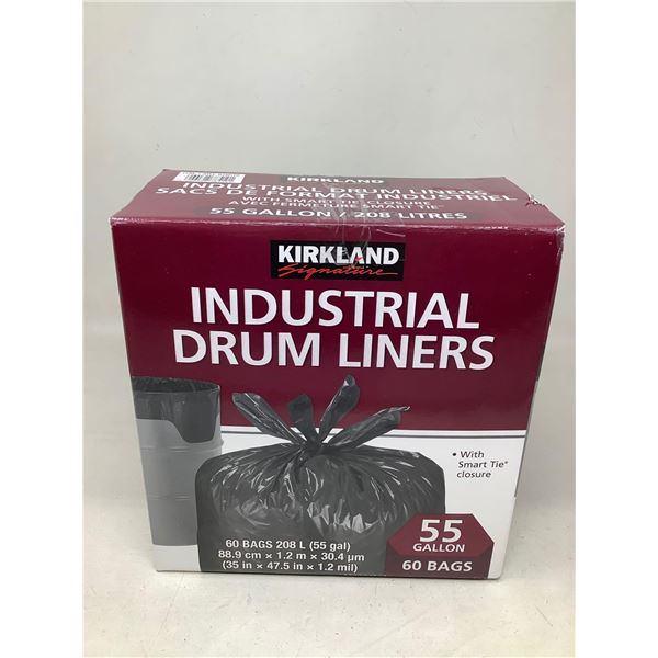 Kirkland Industrial Drum Liners 55 Gallons 60 Bags