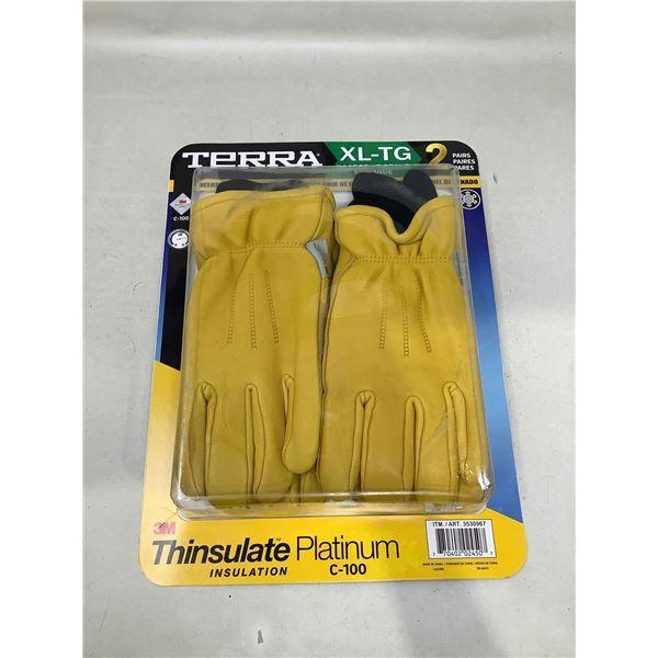 Terra Work Gloves 2 Pairs (XL)