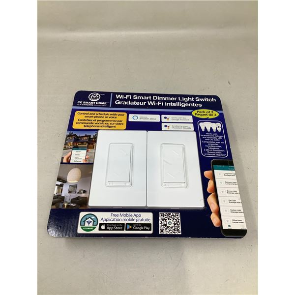 Wi-Fi Smart Dimmer Light Switch Pack Of 2