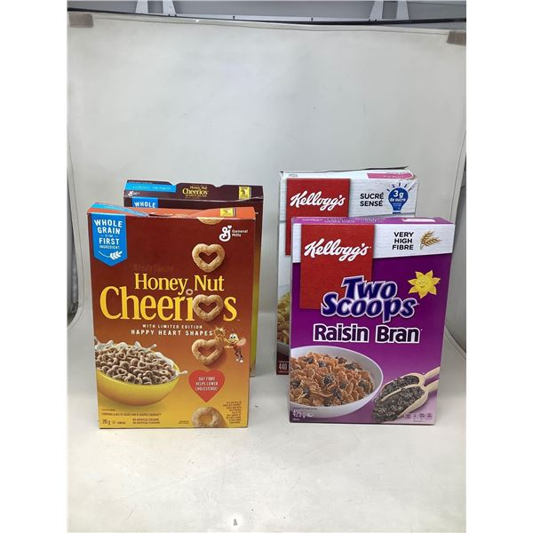 Assorted Cereals Lot Of 4