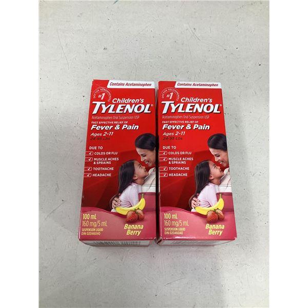Childrens Tylenol Fever & Pain (2 X 100ML)