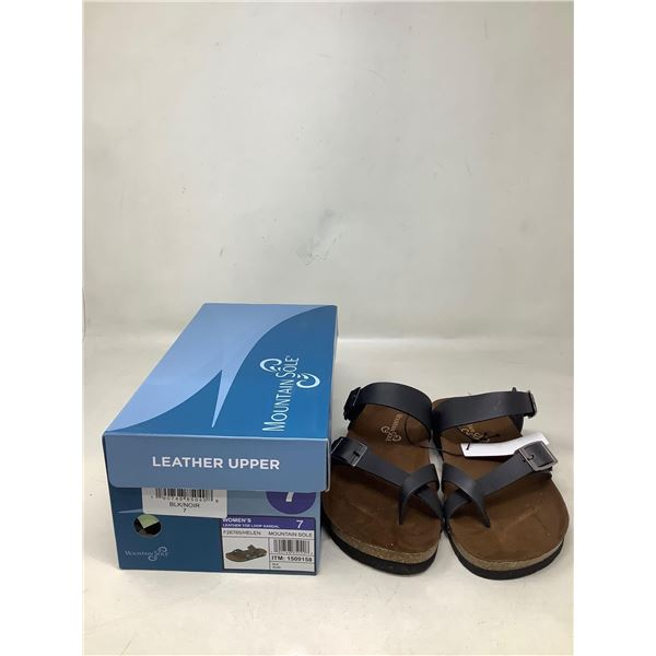 Mountain Sole WomensLeather Toe Loop Sandals Size 7
