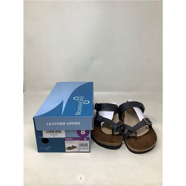 Mountain Sole Womens Leather Toe Loop Sandals Size 8