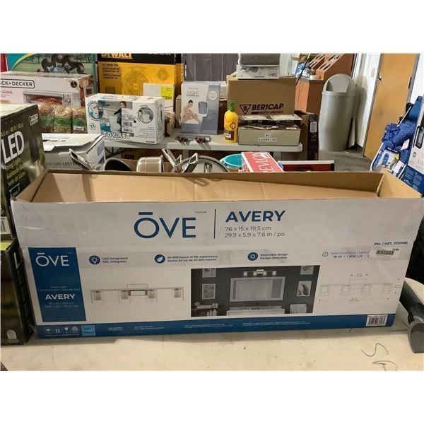 OVE Avery Vanity Light (29.9in x 5.9in x 7.6in)