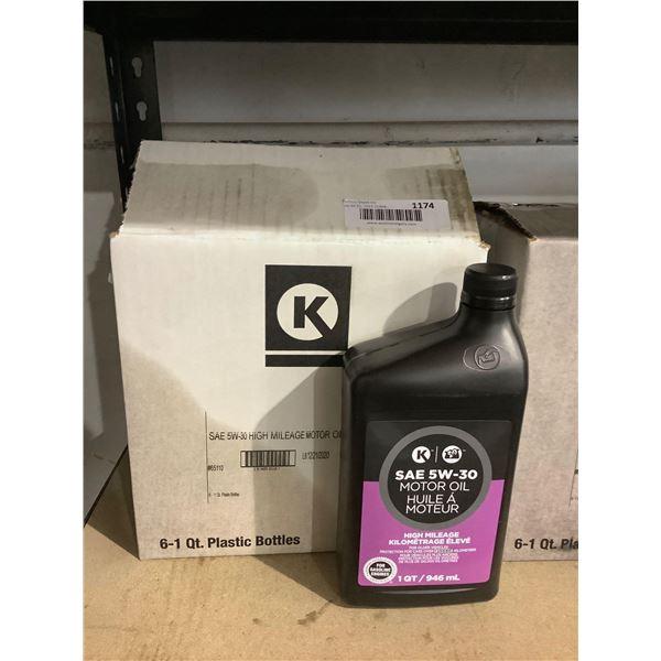 Case of Circle K SAE 5W-30 High Mileage Motor Oil (6 x 946mL)