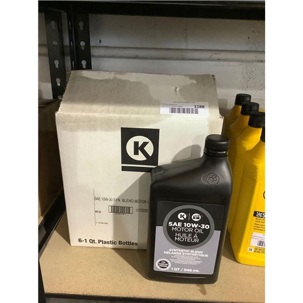Case of Circle K SAE 10W-30 Synthetic Blend Motor Oil (6 x 946mL)