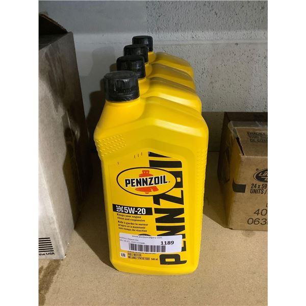 Pennzoil SAE 5W-20 Synthetic Blend Motor Oil (4 x 946mL)