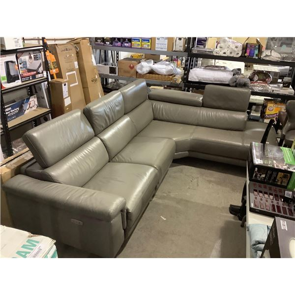 Grey Sectional w/ Power Reclining Seat (Tested, working)