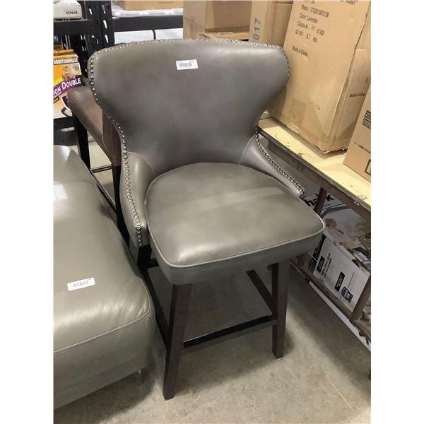 Grey Stud Dining Chair