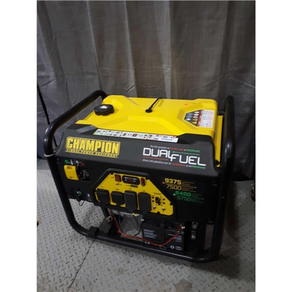 New Champion 9375 Electric Starting Watt Dual Fuel Gen Set
