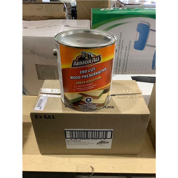 Case of ArmorAll End Cut Wood Preservative Green Solution (2 x 3.5L)