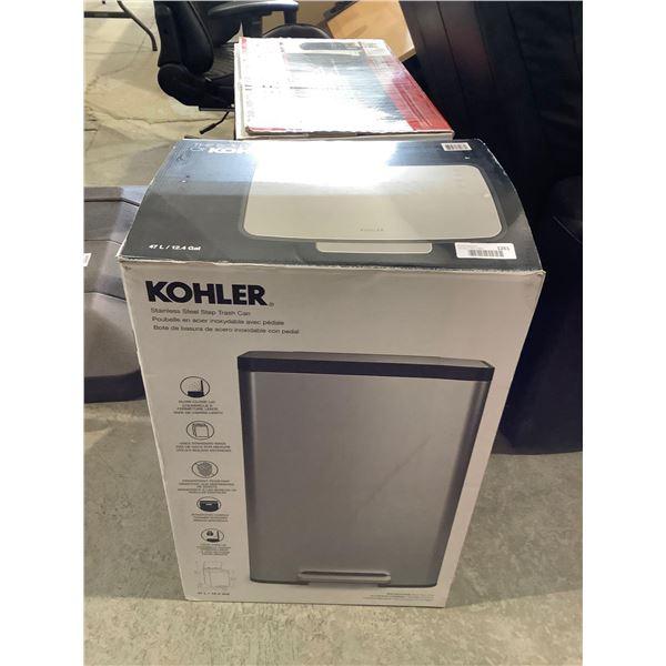 Kohler Steel Step Trash Can (47L)