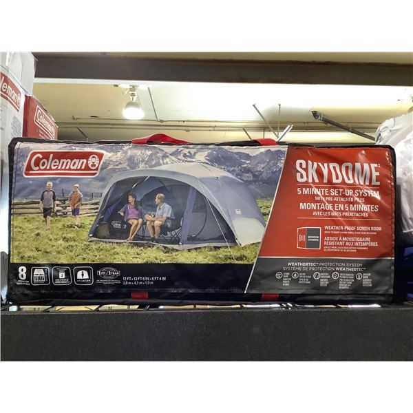 Coleman Skydome8 Person Tent (12ft x 13ft 6in x 6ft 4in)