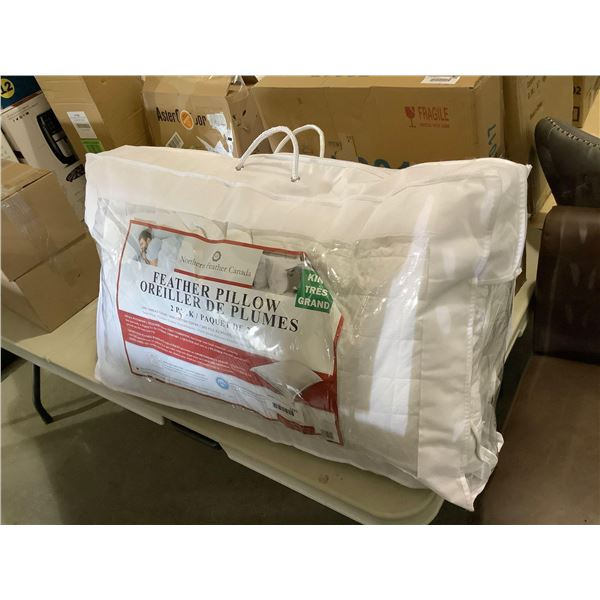 Northern Feather Canada King Size Feather Pillow 2-Pack