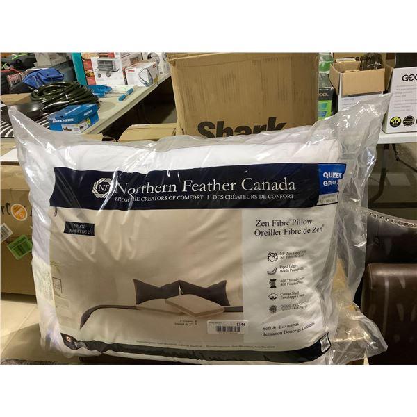 Northern Feather Canada Queen Size Zen Fibre Pillow 2-Pack