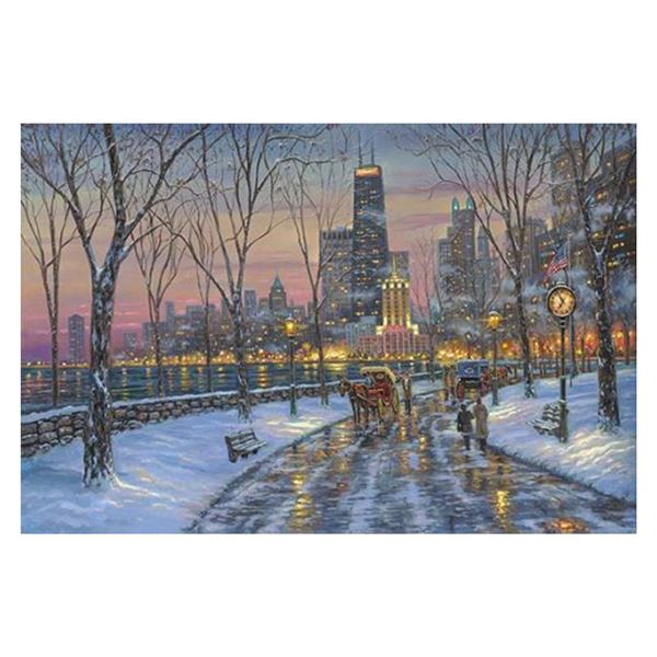 """Robert Finale """"Chicago Skyline"""" Limited Edition Giclee on Canvas"""