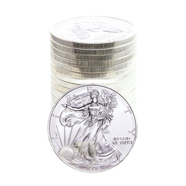 Roll of (20) Brilliant Uncirculated 1998 $1 American Silver Eagle Coins