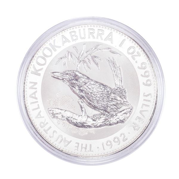 1992 $1 Australian Kookaburra 1oz Silver Coin